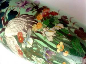 японская ваза клуазоне vase cloisonne period meiji Hayashi Kodenji 1868 - 1912 купить японскую вазу
