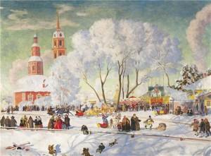Кустодиев Б.М. Масленица 1919 скачать сочинение