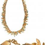 винтажное позолоченное колье Christian Dior