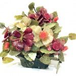 цветочная композиция из камня, резьба 20 век Китай старт 120 евро 32 на 38 см