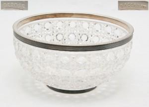 ваза хрусталь металл, марка BACCARAT DEPOSE