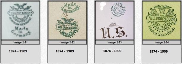 марки и клейма Виллерой и Бох Villeroy & Boch
