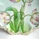 австрийские тарелки парные декоративная тарелка подписная роспись живопись авторская