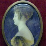 портретная миниатюра кость акварель