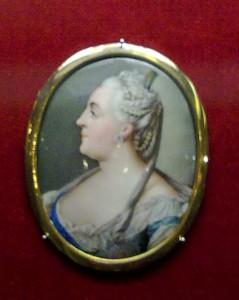 Портрет императрицы Екатерины II миниатюрный эмаль медь