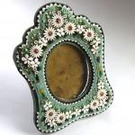 Рамка редкая для фото, смальта римская мозаика ( микромозаика) Италия