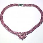 серебряное колье с розовым кварцом огранки маркиз старт 350 евро
