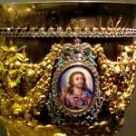 Потир ( англ. Chalice ) Москва, 1829 год Серебро, эмаль, стекла, бирюза, золочение, литье, чеканка, гравировка