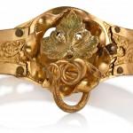 старинный золотой браслет вторая треть XIX века
