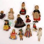 12шт старинный куклы в национальных костюмах ткань композит 28 см