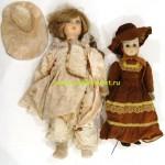2 куклы композитная и голова фарфоровая 42 и 52 см