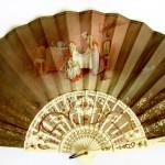 испанский веер прошлого века, двухсторонний