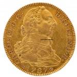 4 эскудо Карлос III Carlos III 1787 13,4 грамм золотая монета интернет аукцион антиквариат нумизматика