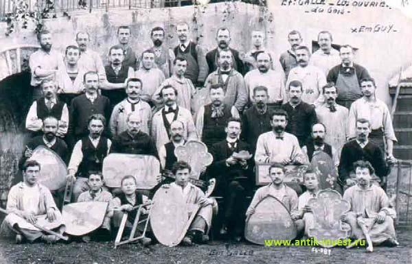 Эмиль Галле в окружении мастеров, 1897 год