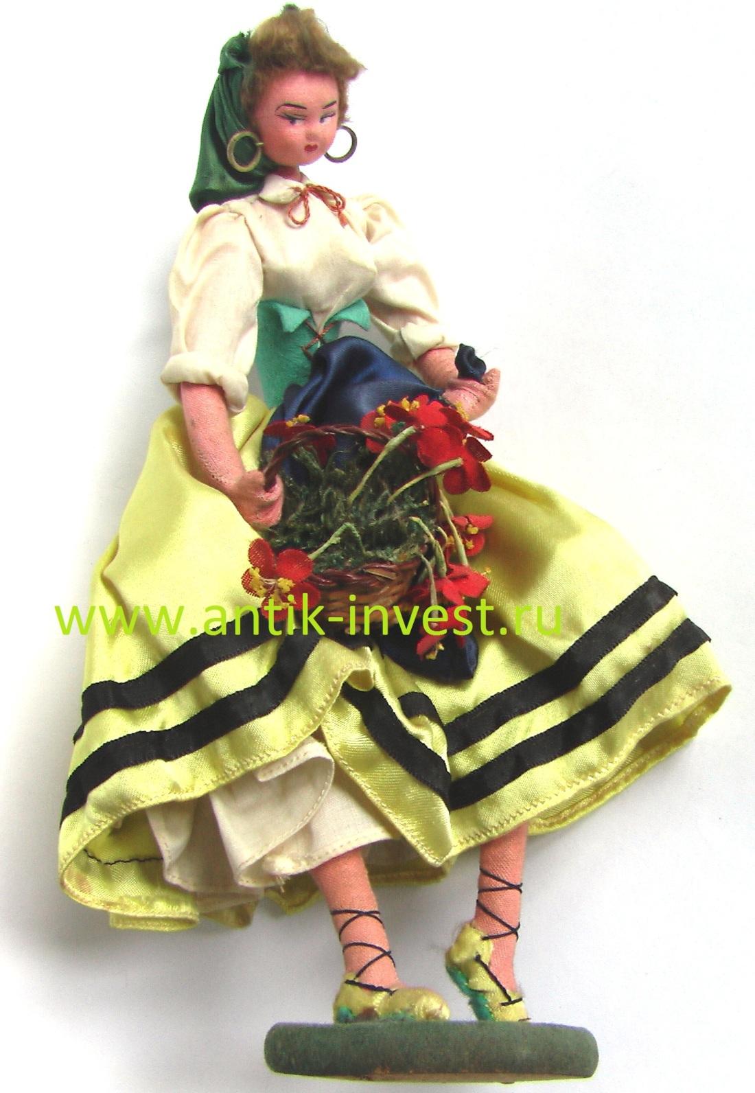 купить винтажную куклу из фетра продажа кукол