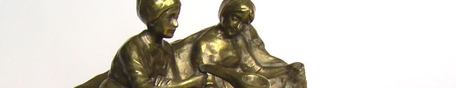 чернильница статуэтка из бронзы бронзовая