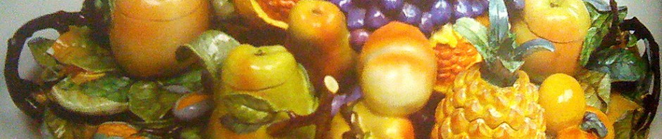 trompe l oeil обманки фарфоровые ИФЗ фрукты сервиз