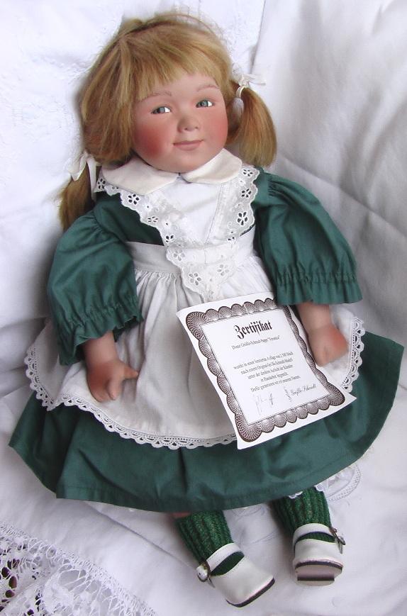 Кукла Veronica Grossle Schmidt 48 см сертификат фарфоровая коллекционная