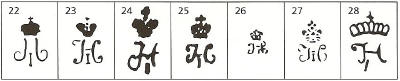 редкие марки и клейма фарфора